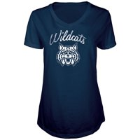 Women's Russell Athletic Navy Arizona Wildcats Distressed V-Neck Tunic T-Shirt