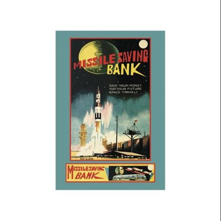 Missile Savings Bank Print  Unframed Paper Print 20X30