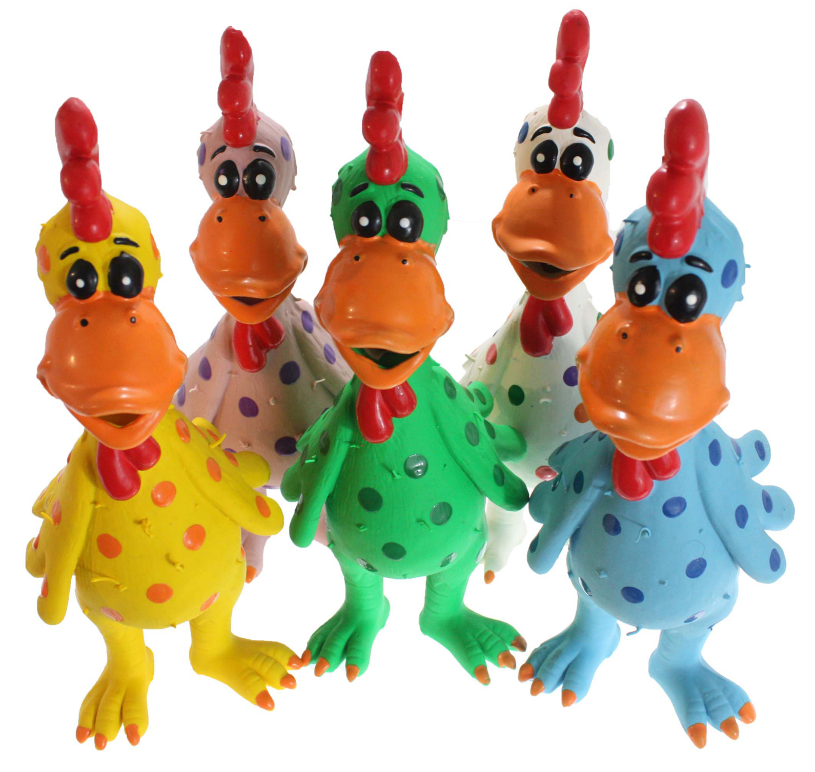 "610017 Globkens, Latex Chicken, Large, 11.5"", Assorted Colors"