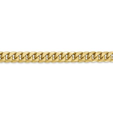14K Yellow Gold 6.75mm Semi-Solid Miami Cuban Chain - image 2 de 4