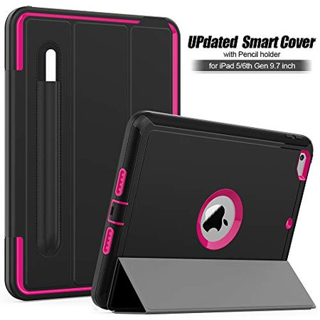 New iPad 9.7 2018/2017 CASE with Pencil Holder By BronteTech- Heavy Duty with Three Layer Protection - Shockproof - iPad 6th/5th Gen. ( Model A1893/A1954/A1822/A1823) - image 6 de 7