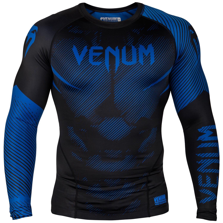 Venum NoGi 2.0 Rashguard - Long Sleeves - Black/Blue-L