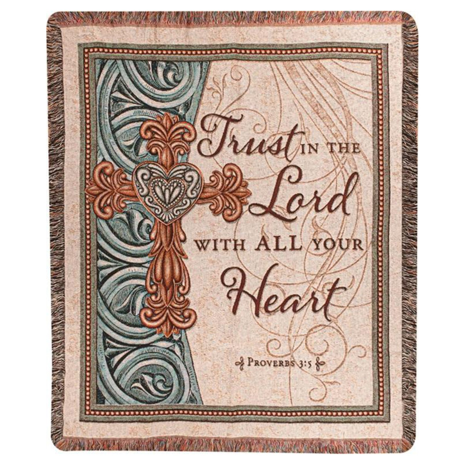 Manual Trust in the Lord Tapestry Throw