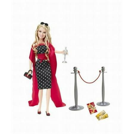Mattel Barbie Hilary Duff Doll Red Carpet Glam Dressed Up, Played Lizzie (Lizzie Mcguire Best Friend)