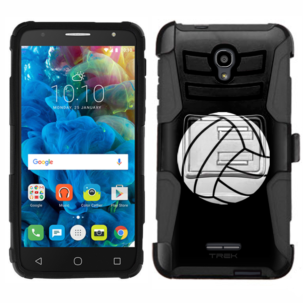 Alcatel OneTouch Allura Armor Hybrid Case - Silhouette Volleyball on Black