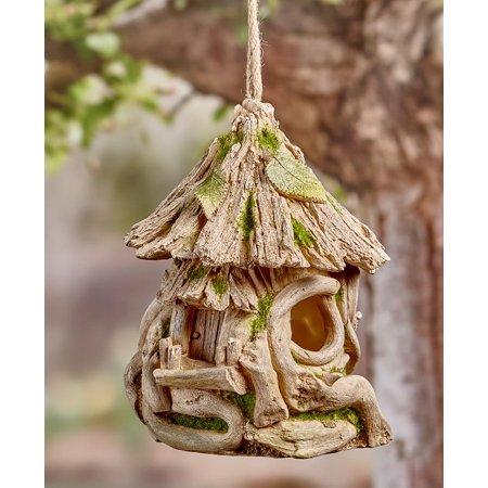 Woodland Themed Birdhouse - Driftwood