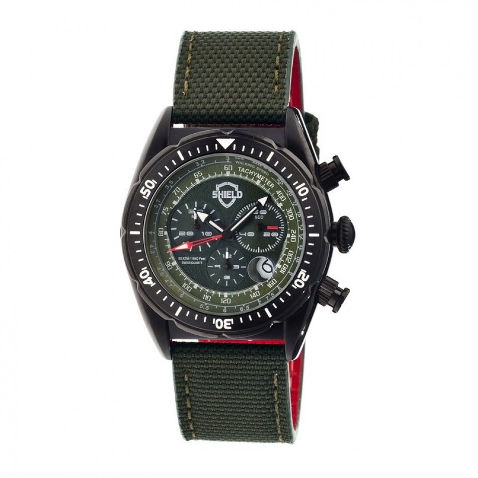 Haig Mens Watch, Black, Green Dial SLD