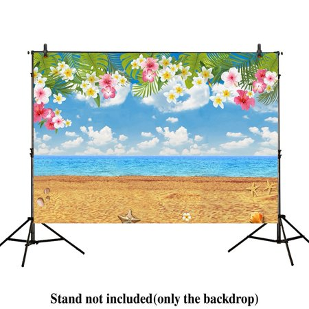HelloDecor Polyster 7x5ft photography backdrops Tropical party Birthday Hawaii Summer Beach banner photo studio booth background newborn baby shower photocall