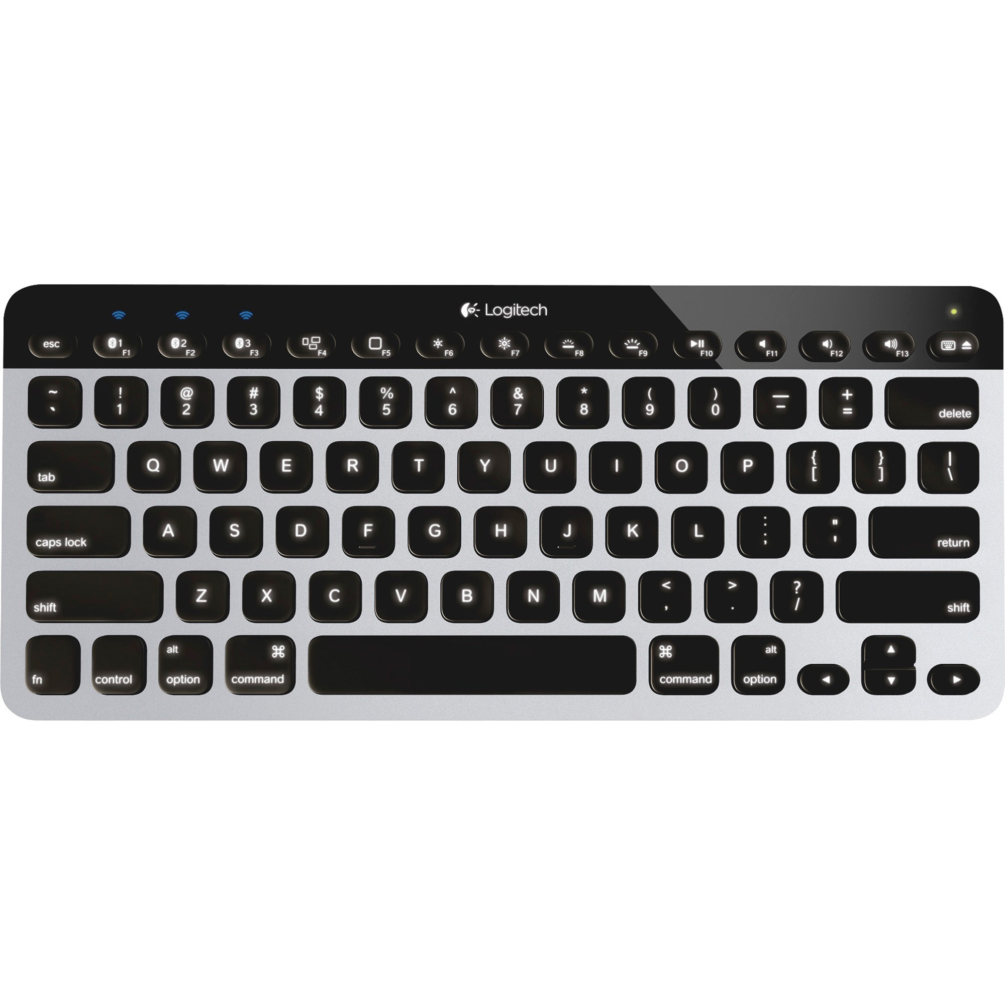Logitech, LOG920004161, Bluetooth Easy-Switch Keyboard, 1, Aluminum