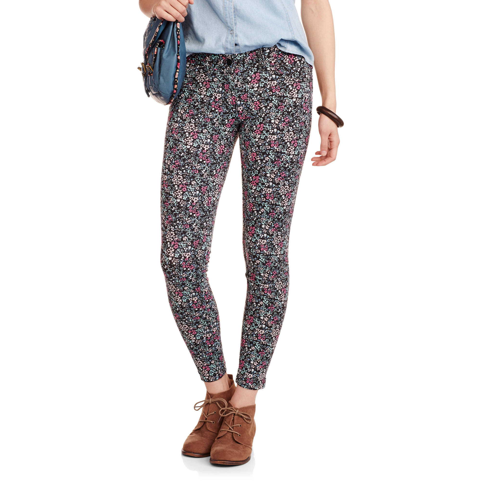 No Boundaries Juniors' Soft Knit Skinny Pants
