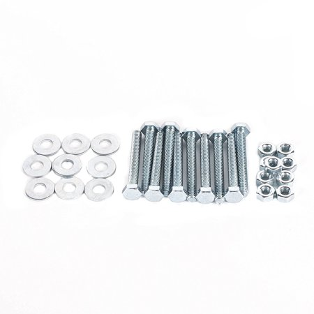 DC Cargo Mall E Track Rail Tie-Down Installation Fasteners Kit with Hex Head 2 Inches Long Galvanized Bolts, Nuts, Washers (10 - Two Head Kit
