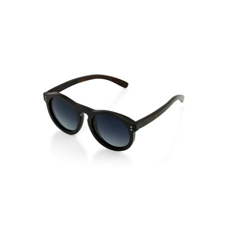 Wood Wooden Frame Mens Womens Dark Brown Wood Sunglasses Eyewear with Gray (Wooden Sunglasses For Sale)