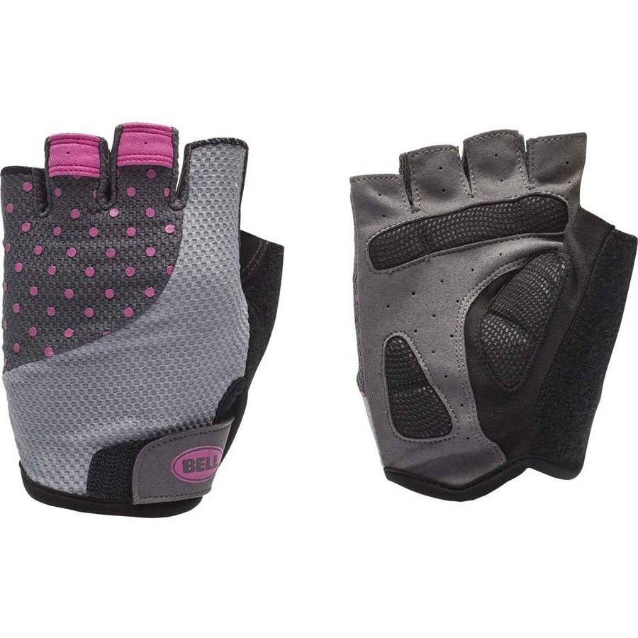 Bell Sports Adelle 500 Half-Finger Womens Cycling Gloves, Silver Pink