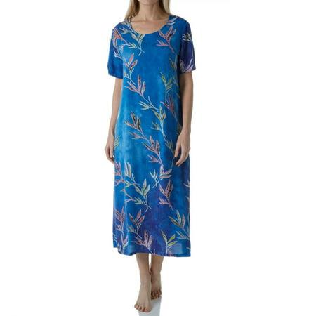 Women's La Cera 2767 Floral Printed Lounge Dress - La Catrina Dress