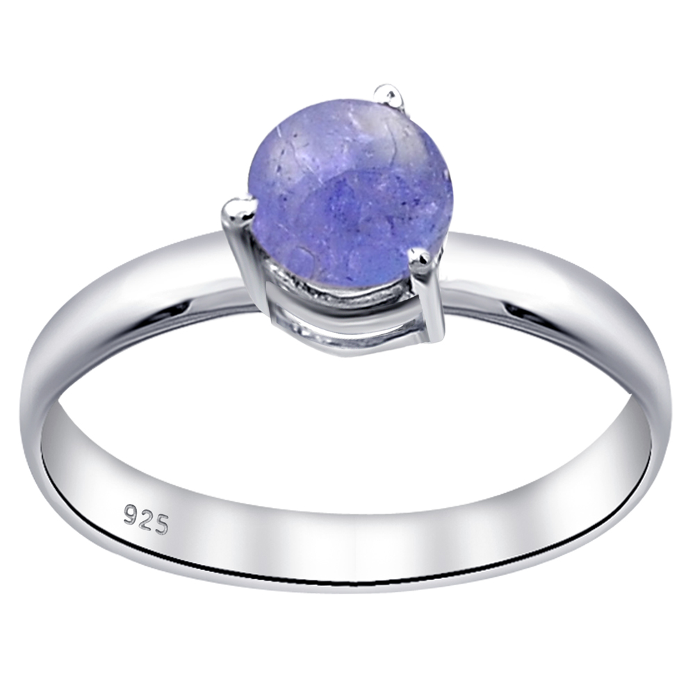 Orchid Jewelry Femmes Bague /Émeraude Tanzanite Argent Sterling 925