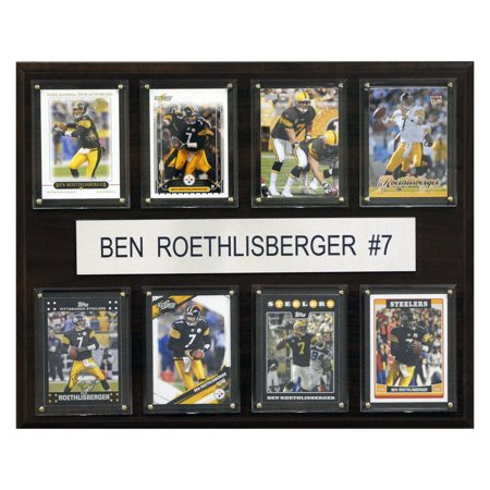 C Collectables Nfl 12X15 Ben Roethlisberger Pittsburgh Steelers 8 Card Plaque