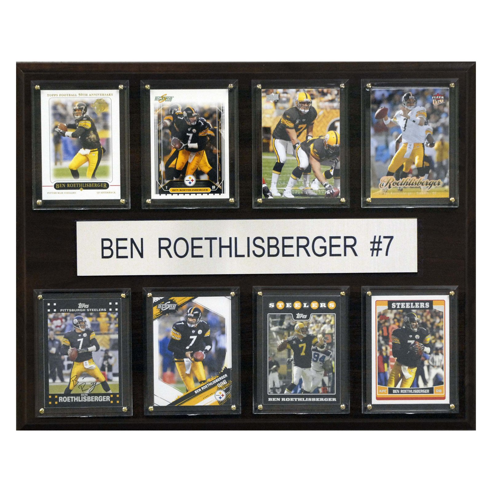 C&I Collectables NFL 12x15 Ben Roethlisberger Pittsburgh Steelers 8-Card Plaque