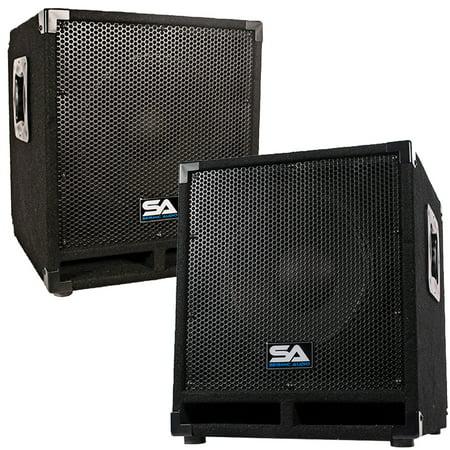 Seismic Cabinet (Seismic Audio Pair of Powered 12