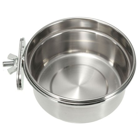 TMISHION Stainless Steel Large Size Food Dog Bowl for Crates Cage(14*6cm) ()