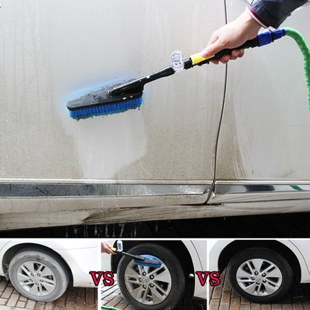 Outtop Car Wash Brush Hose Adapter Vehicle Truck Cleaning Water Spray Nozzle Car Care ()