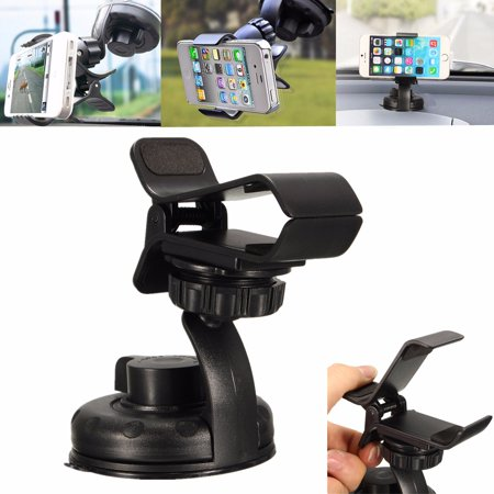 360 Degree Rotating Anti-Slip Car Clip Windshield Dashboard Sticky Suction carphoneholder Cup Holder Mount Stand Cradle for 7s 6s Plus 6s Cellphone MP4