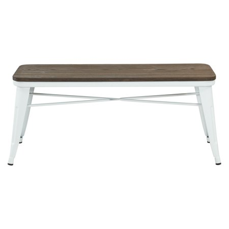 Marvelous Whi Industrial Style Backless Dining Bench White Ibusinesslaw Wood Chair Design Ideas Ibusinesslaworg