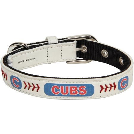 Chicago Cubs Classic Leather Collar - White