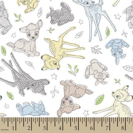 Disney Bambi Nursery Best Of Friends Cotton Fabric by the