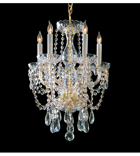Crystorama 1129-PB-CL-S Five Light Mini Chandeliers by Crystorama