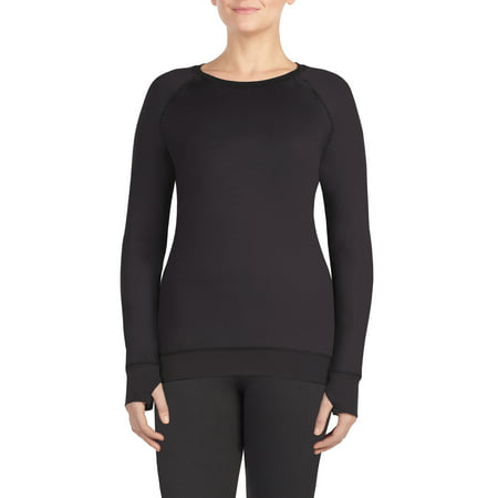Women's Reversible Minky Long Sleeve Warm Underwear Crew Neck