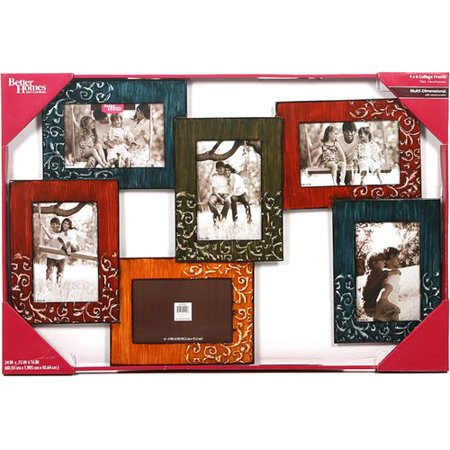 Better Homes And Gardens 6 Opening Collage Photo Frame Multi Color