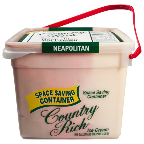 Country Rich Reduced Fat Neapolitan Ice Cream, 4.25 l