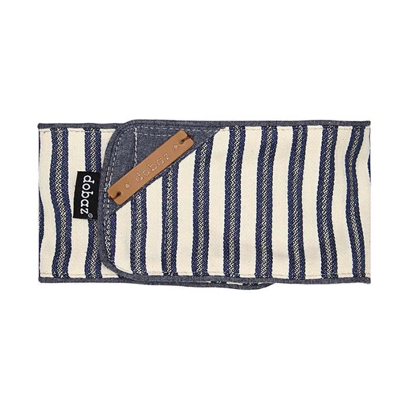 Denim Striped Belly Band Male Dog Wrap By Dobaz - Large