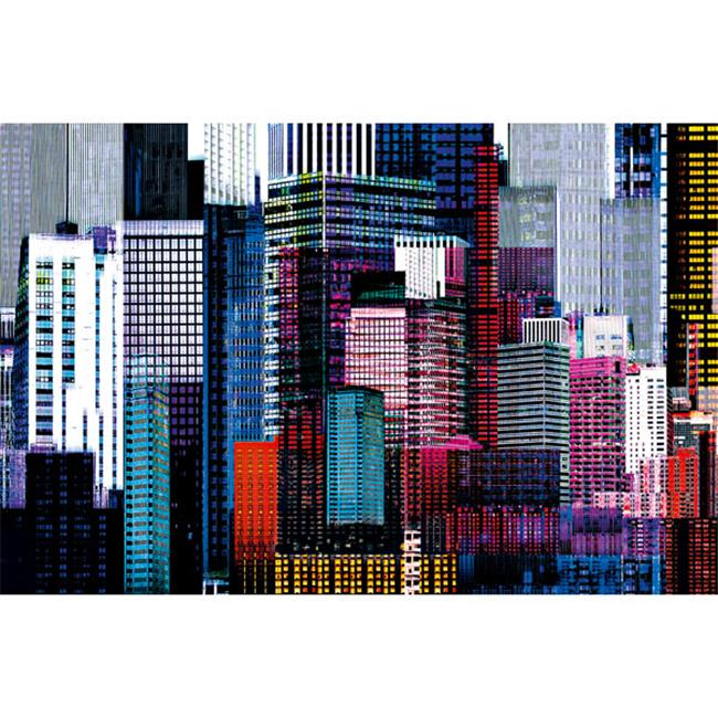 Brewster Home Fashions DM641 Colorful Skyscrapers Wall Mural - 45 in. - image 1 de 1
