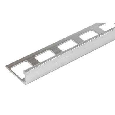 8-foot Brushed Nickel Finish Aluminum Thin Edge Tile Trim (Set of 10)