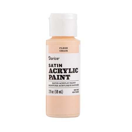 Satin Sheen Finish (Color human character designs with this satin acrylic paint in flesh shade. Its subtle sheen offers an ideal finishing touch for various crafts.)