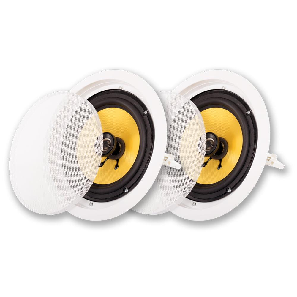 """Acoustic Audio HD-8-PR 8"""" Speaker 2-Way Home Theater In-Wall/Ceiling Speaker Pair"""