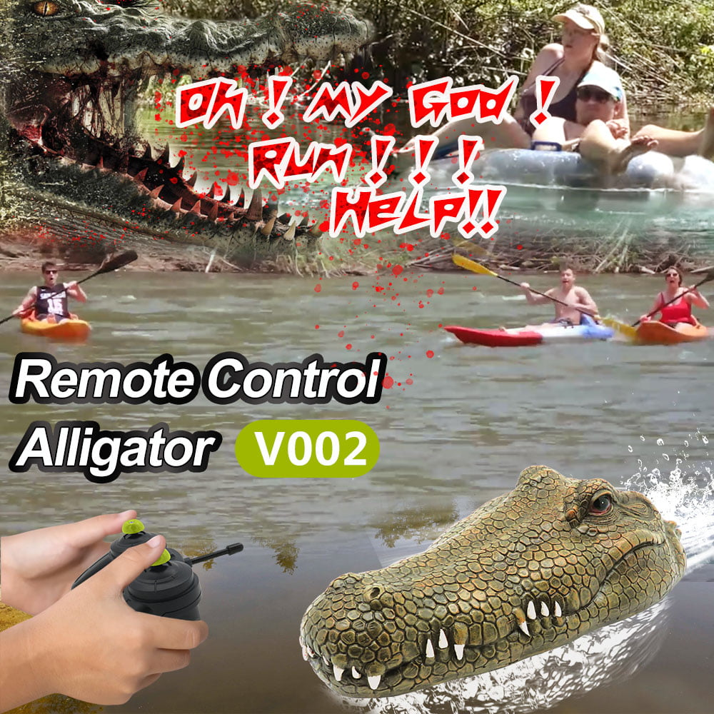 Crocodile Boat Waterproof Rechargeable Remote Control Floating Toy for Adults and Kids Loved by Boys and Girls rc Radio Controlled Boats Remote Control Water Speed Boat