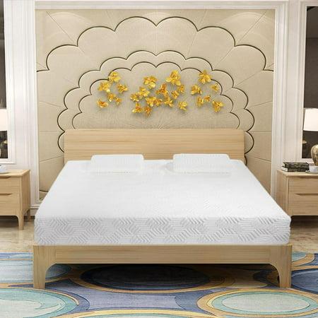 """Ktaxon New 14"""" Three Layers Queen Cool Memory Firm GEL Foam Mattress Room w/ 2 Pillows"""
