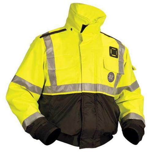 MUSTANG SURVIVAL MJ6214 - T3 S Flotation Jacket, ANSI Yellow Green, S