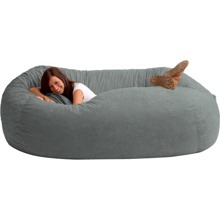 XXL Fuf Comfort Suede Bean Bag Multiple Colors Walmartcom - Cozy chill bag