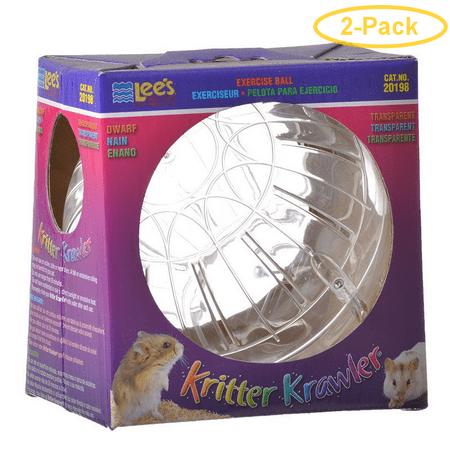 Lees Kritter Krawler - Clear Mini - 3 Diameter - Pack of 2