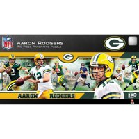 Aaron Rodgers Green Bay Packers 750-Piece Player Stadium Panoramic Puzzle - No Size