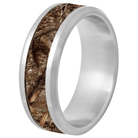 Brilliance Fine Jewelry Men S Stainless Steel Camouflage Inlay
