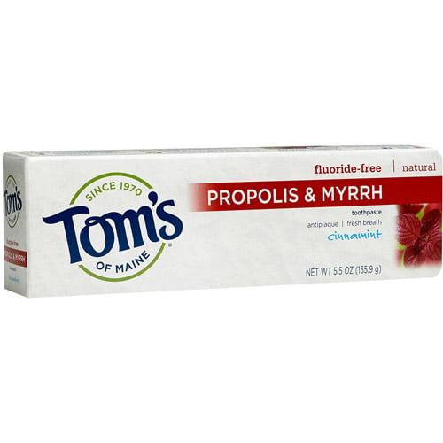 Tom's of Maine Propolis & Myrrh Cinnamint Fluoride-Free Toothpaste, 5.5. oz