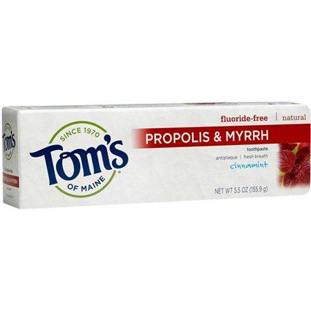 Tom's of Maine Propolis & Myrrhe Cinnamint Fluoride-Dentifrice, 5.5. oz