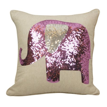 Sequin Elephant Throw Pillow : Westex Emma and Violet Sequin Elephant Throw Pillow - Walmart.com