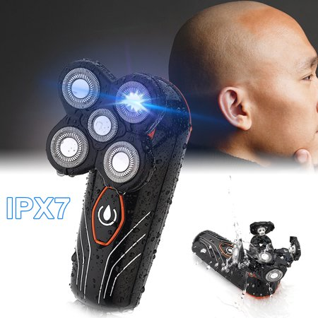 4 Head Shaver (5 Head Floating Shaving Bald Head Men's Electric Foil Shaver Waterproof Wet and Dry Shaver (with USB)
