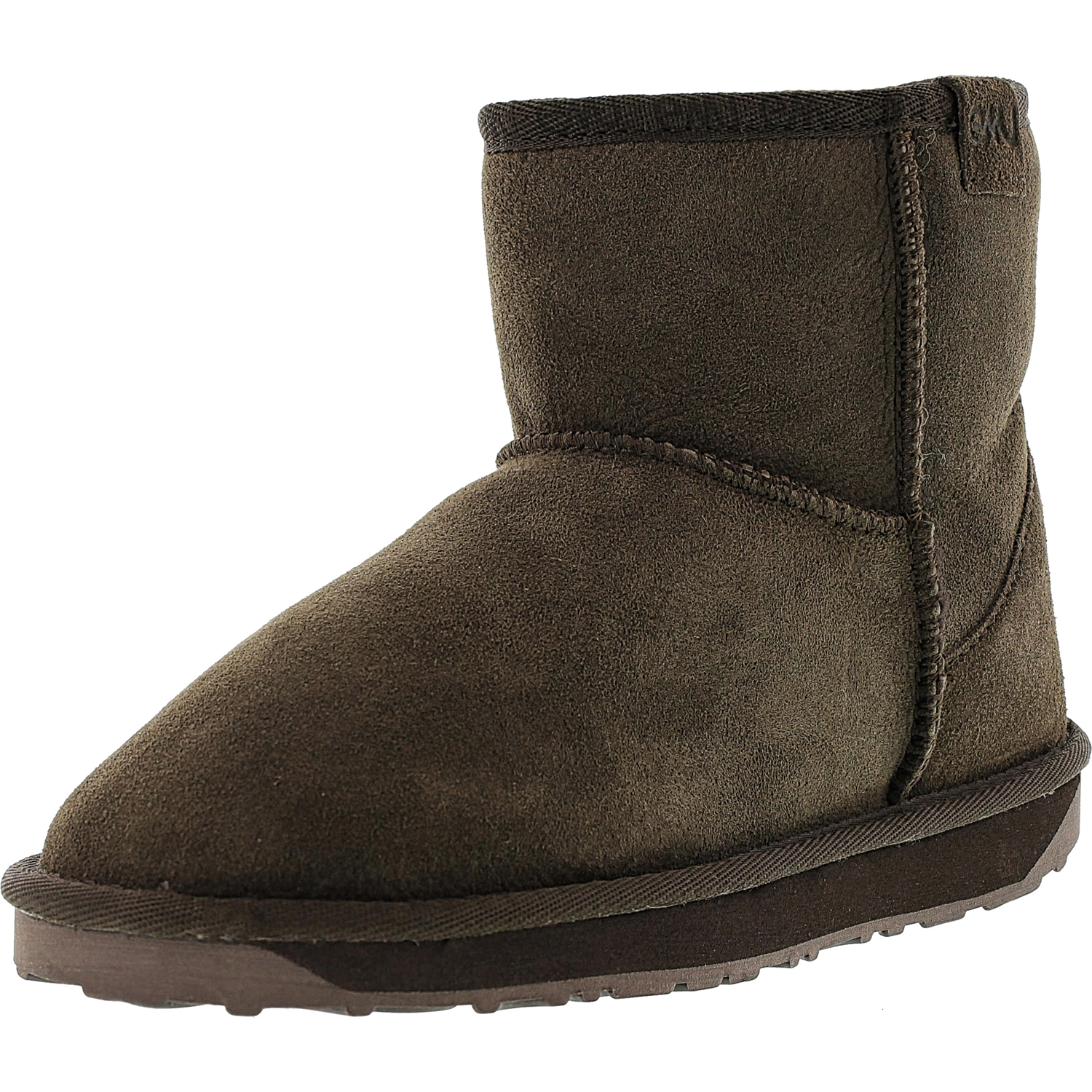 Emu Women's Stinger Mini Chocolate Ankle-High Sheepskin Boot - 9M