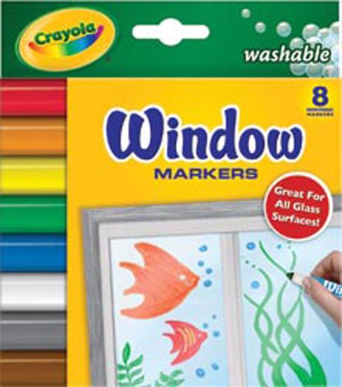 Crayola 8 count Washable Window Markers by Crayola